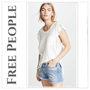 NWT Free People 'So Easy' Ivory Tee Shirt